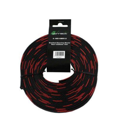 4-Connect Nylonstrumpa röd/svart 12 / 25mm