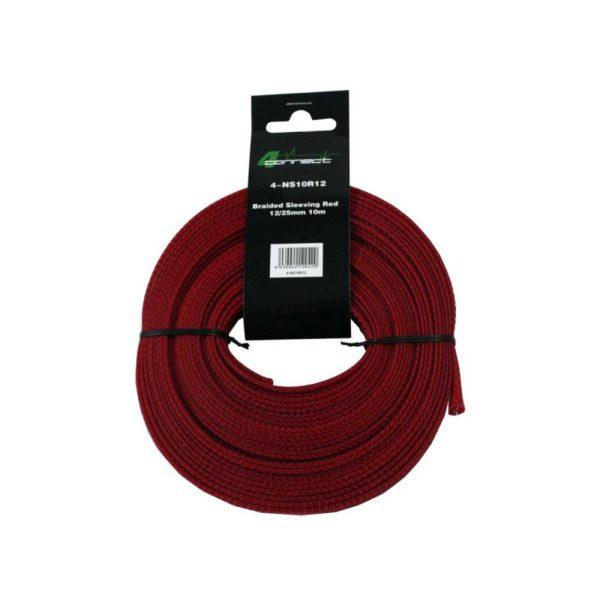 4-Connect Nylonstrumpa röd 12 / 25mm 10m